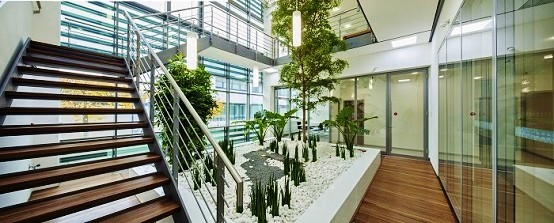 finished greening atrium  muenchen