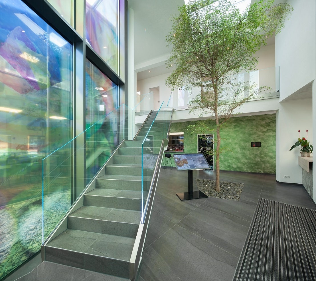 Big tropical tree interior lobby and stairway - Norway, Finland, Sweden, Denmark - Europe buy online