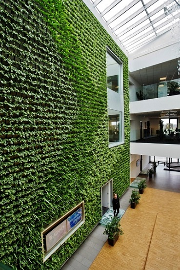 Greenwall at the company headquarters