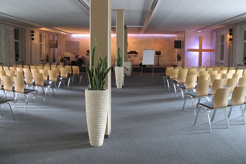 Christian congregation houses and churches with plants in the interior buy online
